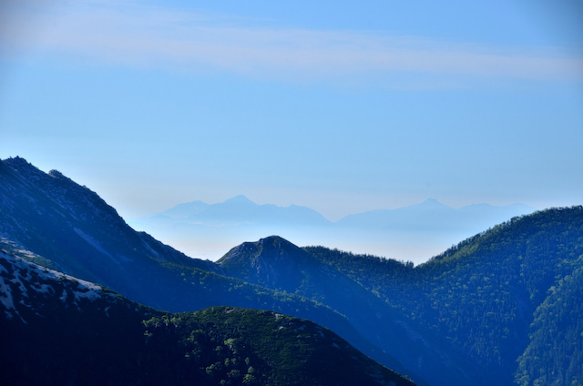 表銀座縦走コース ビックリ平 富士山方面の眺め