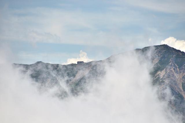 燕岳 山頂からの眺め 大天荘方面