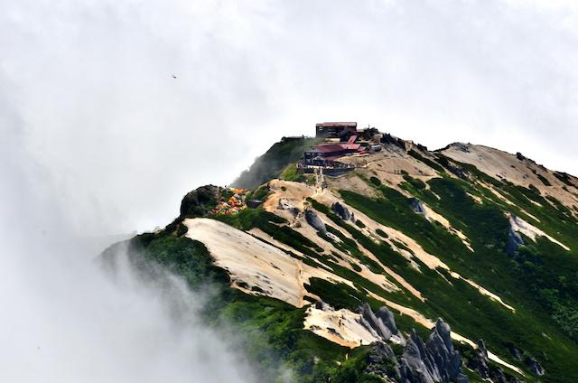 燕岳 山頂からの眺め 燕山荘方面