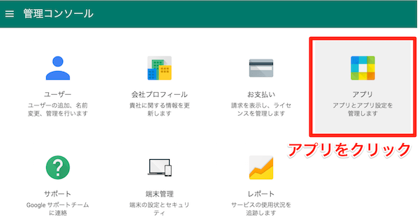 Google Apps for Work 管理コンソール
