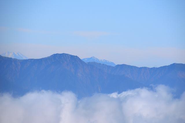 御嶽山 登山 空木岳、南駒ヶ岳、越百山、塩見岳