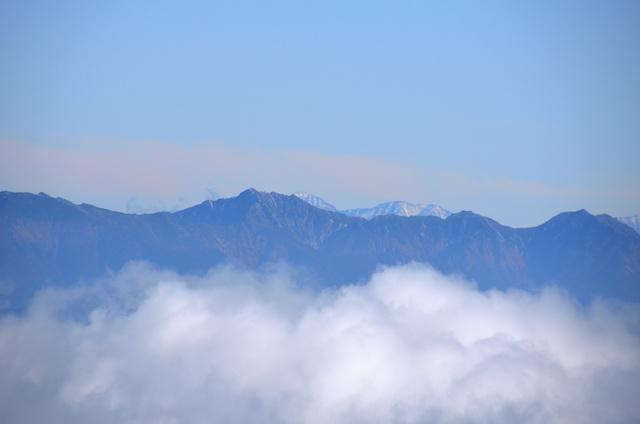 御嶽山 登山 越百山、赤石岳、悪沢岳
