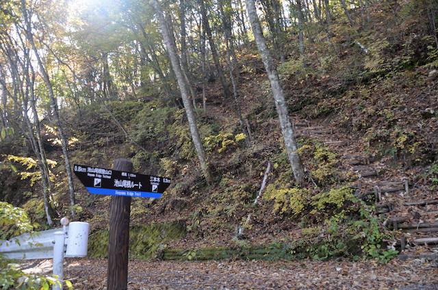 空木岳 登山道入り口 池山林道