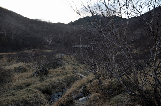 空木岳 空木平避難小屋