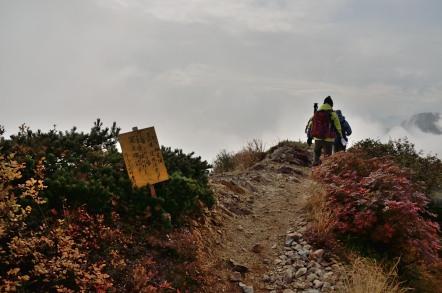 五竜岳 下山 危険箇所
