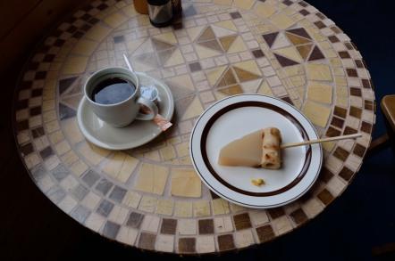 志賀高原 スカイ喫茶のぞき おでん コーヒー