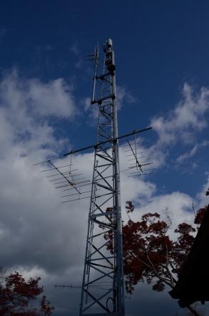 足助城 頂上 アンテナ NHK