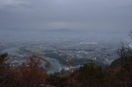 鳩吹山 頂上からの眺め 美濃加茂市方面