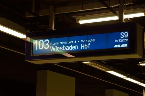 フランクフルト中央駅 103番 フランクフルト空港行き