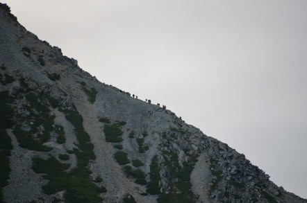 雄山 登山道