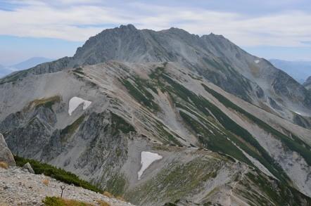 立山縦走 稜線