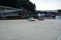 足助小学校 グラウンド 臨時駐車場