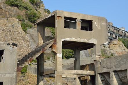 第二竪坑 竪坑口桟橋跡