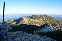 朝日岳方面