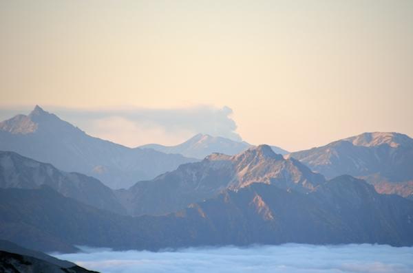 2014年9月 御嶽山噴火 白馬岳山頂より