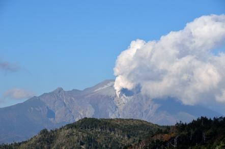 御嶽山 噴煙 小秀山から
