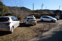 猿啄城展望台 駐車場