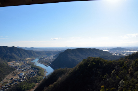 猿啄城展望台 名古屋方面