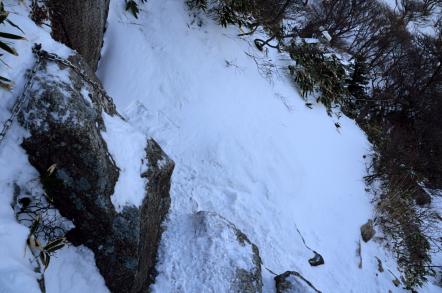 御在所岳 冬 中登山道