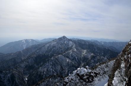 御在所岳 冬 中登山道 鎌ヶ岳
