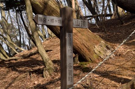 霊仙山 榑ヶ畑登山道 4合目