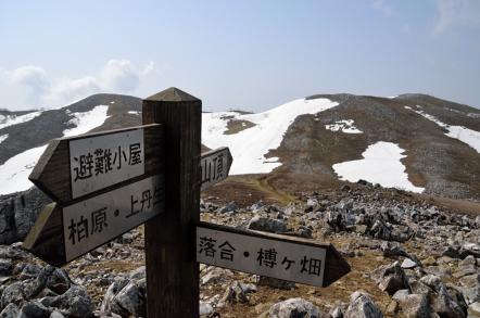 霊仙山 山頂方面
