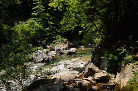 阿寺渓谷 遊歩道 六段の滝