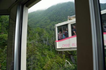駒ケ岳ロープウェイ 中間地点