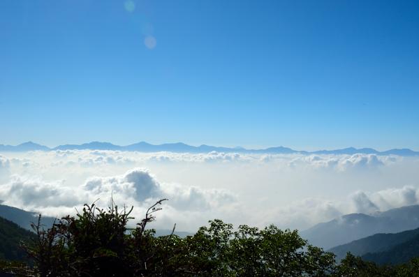 木曽駒ヶ岳 千畳敷カールからの南アルプス
