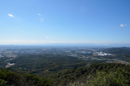 弥勒山の東屋からの眺め