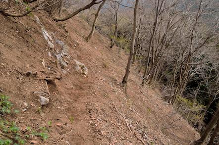 舟伏山 東ルート 夏坂林道入口(お墓)コース