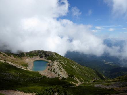 御嶽山 三ノ池〜ニノ池