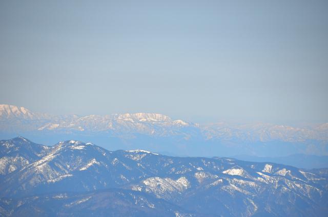 木曽駒ヶ岳 山頂からの眺め 笈ヶ岳(おいずるがたけ)