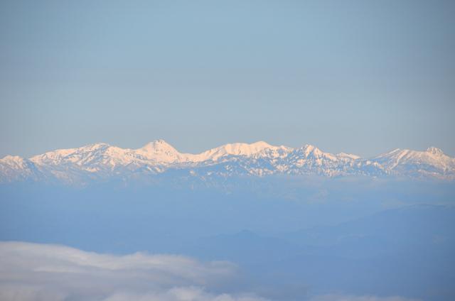 木曽駒ヶ岳 山頂からの眺め 焼山 火打山 妙高山