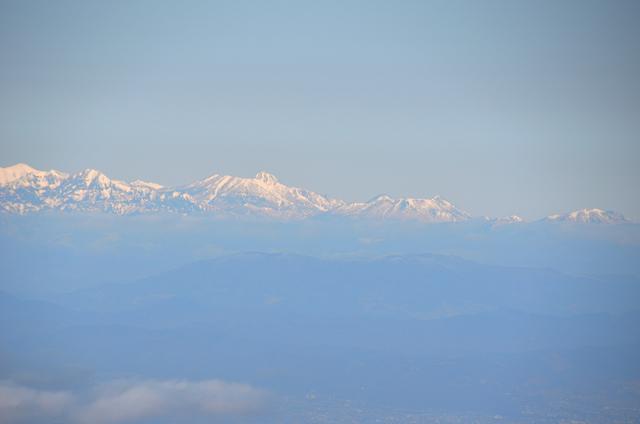 木曽駒ヶ岳 山頂からの眺め 妙高山 黒姫山 飯縄山