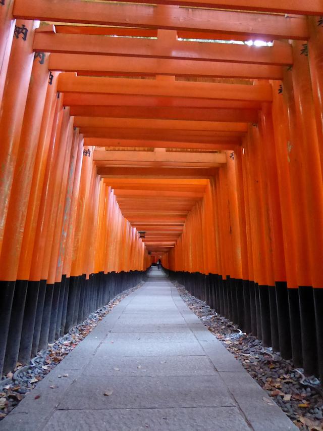 京都一周トレイル 東山コース 道標番号1 伏見稲荷 千本鳥居