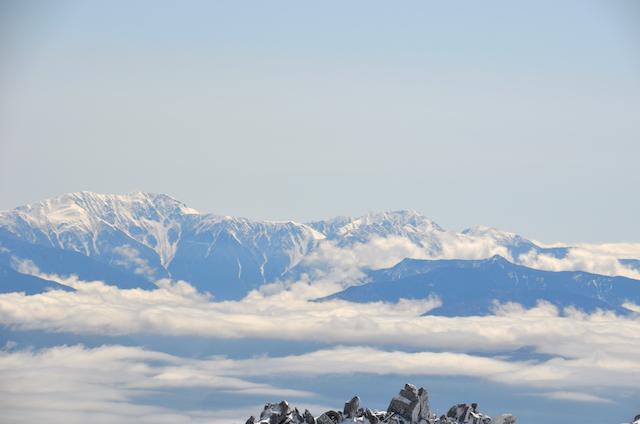 木曽駒ヶ岳 山頂からの眺め 聖岳 上河内岳