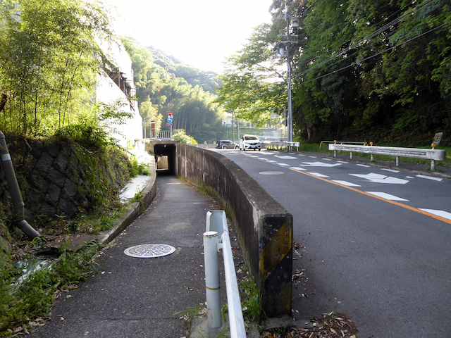 京都一周トレイル 東山コース 道標番号15 国道1号線横断地下道