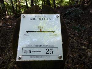 京都一周トレイル 東山コース 道標番号25