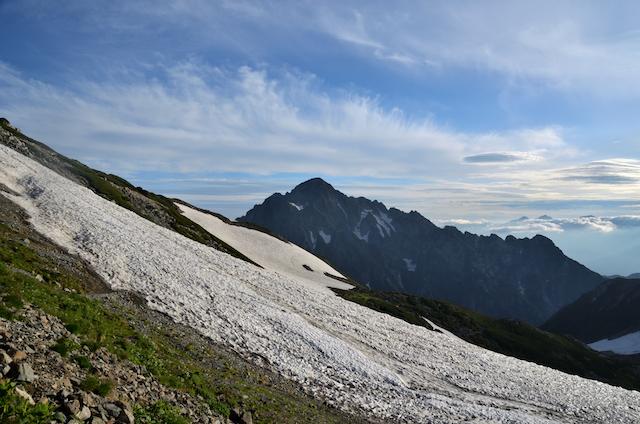 別山乗越 剱御前小舎 剣岳方面