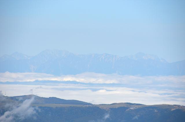 蓼科山 山頂 剱岳〜立山三山