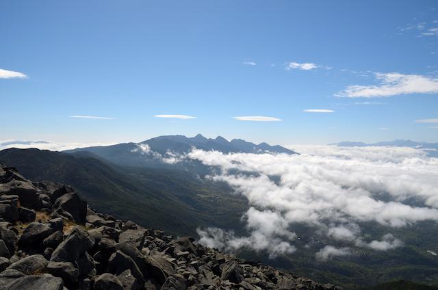 蓼科山 山頂 南八ヶ岳方面