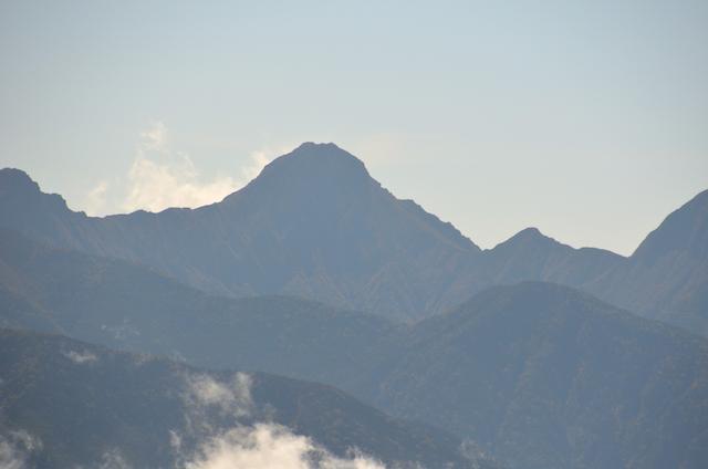 蓼科山 山頂 赤岳