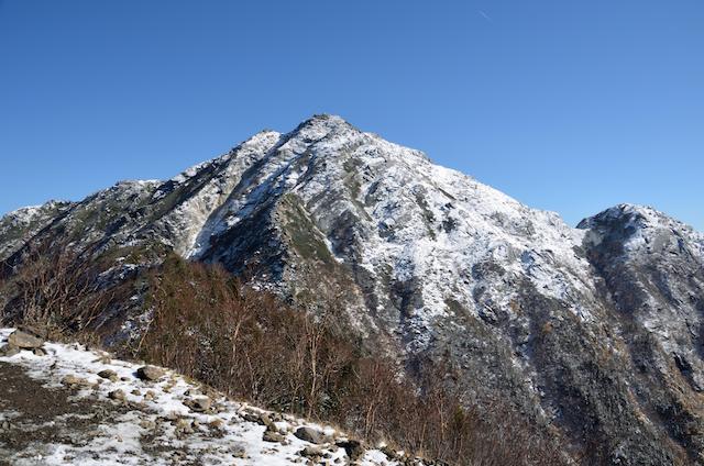 甲斐駒ヶ岳 駒津峰 甲斐駒ヶ岳山頂方面