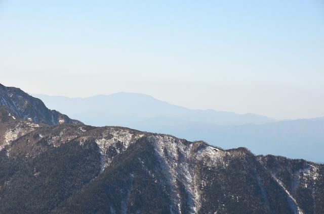 甲斐駒ケ岳からの眺め 恵那山