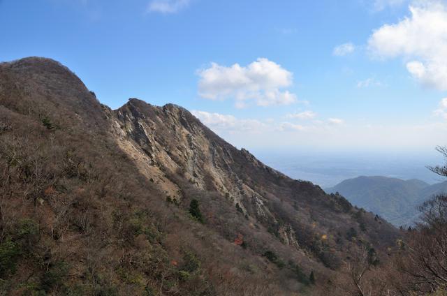 釈迦ヶ岳 猫岳 大蔭のガレ方面
