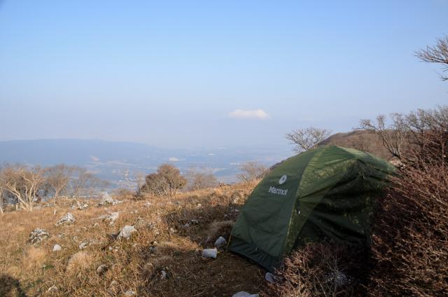 藤原岳 山頂 テント泊