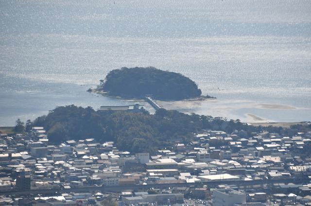 五井山 山頂からの眺め 竹島方面