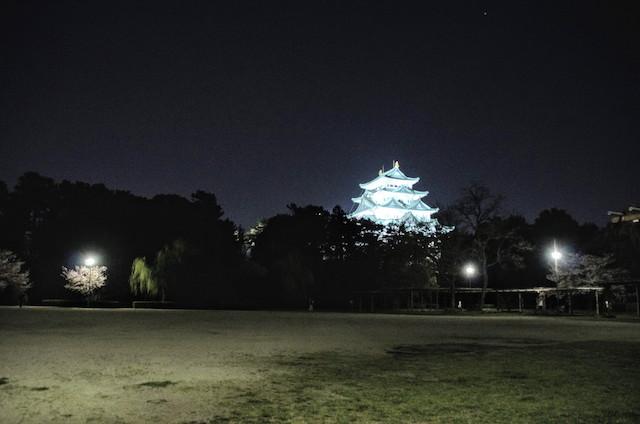 名古屋城 ライトアップ