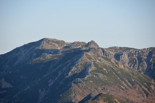 空木岳 山頂からの眺め 木曽駒ヶ岳 宝剣岳
